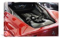 Ferrari engine, Canvas Print