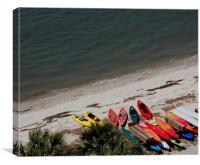 Kayak Colors, Canvas Print