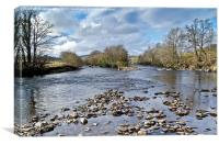 River Finn at Ballybofey, Donegal, Ireland, Canvas Print