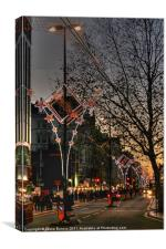 Christmas lights in London, Canvas Print