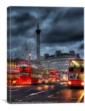 London red buses, Canvas Print