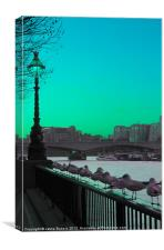 Green day in London, Canvas Print