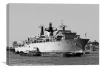 Warship HMS Bulwark, Canvas Print