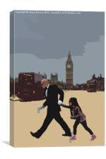 London Matrix, Baddie Agent Smith, Canvas Print