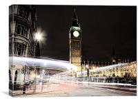 Big Ben with Light Trails, Canvas Print