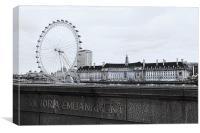 London Eye Mono, Canvas Print