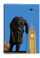 Winston Churchill, Canvas Print