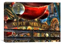 Apple Market Horizontal, Canvas Print