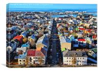 Reykjavik Cityscape Panorama, Canvas Print