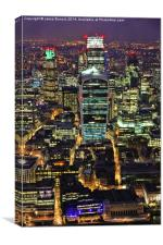 City of London Skyline at Night, Canvas Print