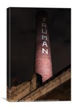 Truman Chimney in Brick Lane, Canvas Print