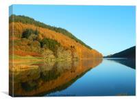 Autumn at Llyn Geirionydd, Canvas Print