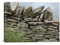 Old fashioned stone wall., Canvas Print
