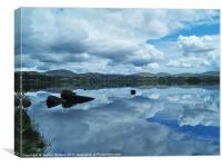 Lough Eske Reflections, Canvas Print