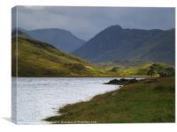 Loch Beannacharain, Canvas Print