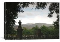 View from Croick Churchyard, Canvas Print