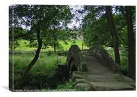 Thornthwaite Pack Horse Bridge, Canvas Print