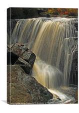 Hambleton Dyke Waterfall, Canvas Print