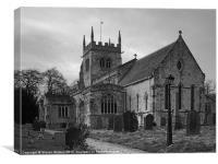 All Saints, Sherburn-in-Elmet, Canvas Print