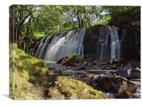 Allt Beochlich Waterfall, Canvas Print
