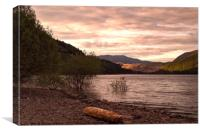 Evening at Thirlmere, Canvas Print