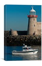 Howth Lighthouse, County Dublin, Ireland, Canvas Print
