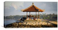 Locals Relaxing in Bali, Canvas Print