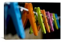 Clothes Pegs, Canvas Print