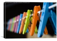 Clothes Pegs 2, Canvas Print