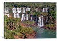 Iguazu River & Falls., Canvas Print
