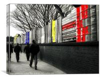 GOING TO THE MATCH, Canvas Print