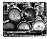 BECKS BARRELS, Canvas Print
