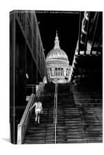 STEPS TO ST PAULS, Canvas Print