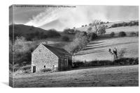 WETTON BARN, Canvas Print