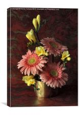 GERBERAS & FREESIAS, Canvas Print