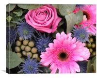 PINK FLOWERS, Canvas Print
