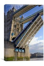 PASSING UNDER TOWER BRIDGE, Canvas Print
