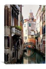 VENICE CANAL                                  , Canvas Print