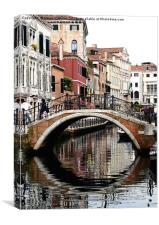 BRIDGE IN VENICE                                  , Canvas Print