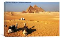 Pyramids of Giza, Canvas Print