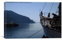 Docked in Dubrovnik, Canvas Print