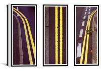 Double Yellows, Canvas Print