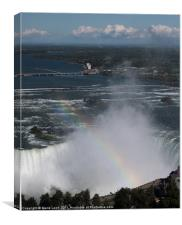 Rainbow Over Niagara Falls, Canvas Print