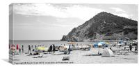 Beach Brolly's, Canvas Print