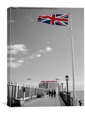 Patriot Of The Pier, Canvas Print