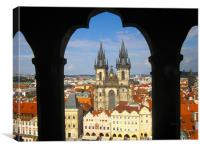 Prague Old Town Tyn Church, Canvas Print