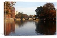 River in Bedord, Canvas Print