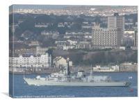 HMS Portland, Canvas Print