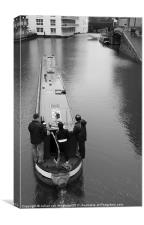 Camden Canal Narrow Boat, Canvas Print