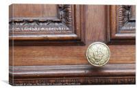 HM Customs Doorknob, Canvas Print